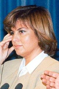 (Tansu Çiller) Rueda de prensa de Felipe González y la primera ministra de Turquía. Pool Moncloa. 16 de noviembre de 1995 (cropped) (cropped).jpeg