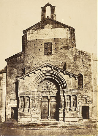 Church of St. Trophime, Arles - 1851 photograph by Édouard Baldus
