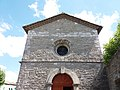 Église de Saint-Maurice d'Ardèche - Haut de la façade.jpg