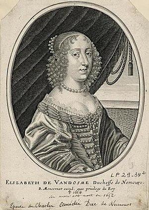 Élisabeth de Bourbon - Image: Élisabeth de Vendôme, duchesse de Nemours