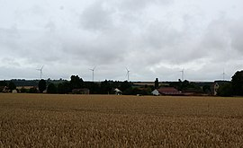 The wind farm of Ourcq and Clignon
