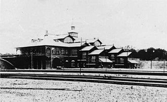Coast Line (Denmark) - A snow-covered Østerport Station in 1897 shortly after inauguration.