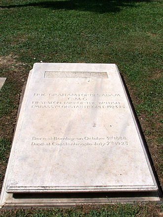 Eric Forbes Adam - Eric Forbes Adam's grave in Istanbul
