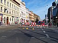 Štefánikova, rekonstrukce TT, u ulice V botanice.jpg