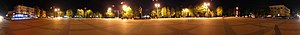 Pryluky - Image: Нічна панорама Центральної площі Прилук