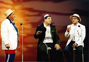 "HaGashash HaHiver - right to left: Gavriel Banai (""Gavri""), Yeshayahu Levi (""Shaike""), Yisrael Poliakov (""Poli"")"