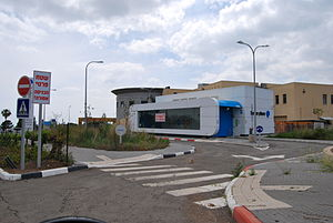Better Place - A shut-down battery swap station in Israel.