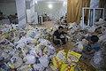 بسته بندی کمک های بشردوستانه و مردمی برای زلزله زدگان قصر شیرین Humanitarian aid- Iran Kermanshah 01.jpg