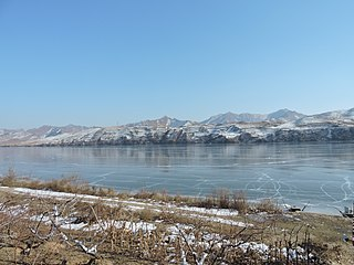 River on the border between North Korea and China
