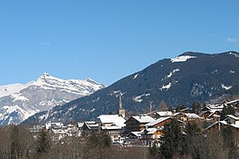 February 2005 view of Les Contamines-Montjoie