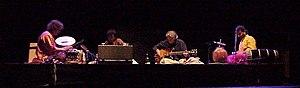 Remember Shakti - (left to right) Zakir Hussain, U. Srinivas, John McLaughlin, V. Selvaganesh
