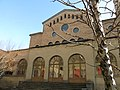 068 Seminari Nou, rda. Francesc Camprodon (Vic), pati oest i transsepte de la capella.jpg