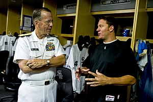 Jake Peavy - Peavy with Michael Mullen, 17th Chairman of the Joint Chiefs of Staff