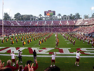 Spirit of Troy - The Spirit of Troy take the field at Stanford Stadium (2006)