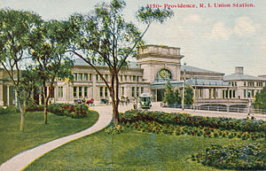 Providence station - A postcard image of the 2nd Union Station, circa 1910