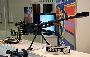 Kord machine gun - Kord machine gun displayed at the Interpolitex-2011