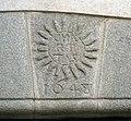 138 Casa de la Vila d'Hostalric, antic convent dels Mínims, emblema de l'Orde.jpg
