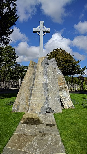16th (Irish) Division - Memorial to the 16th Irish Division in Glasnevin Cemetery, 2016.