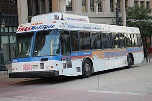 RTD Bus & Rail - 16th Street Mall shuttle bus