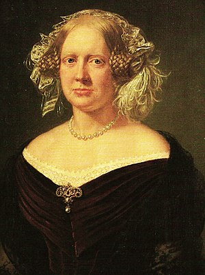 Princess Caroline of Denmark - Painting by August Schiøtt (1854)