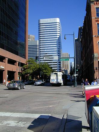 "Economy of Colorado - 17th Street, dubbed the ""Wall Street of the West,"" is home to many of Denver's banks, corporations, and financial agencies."