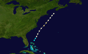 1860 Atlantic hurricane season - Image: 1860 Atlantic hurricane 2 track