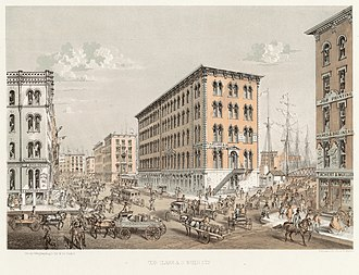Clark Street (Chicago) - Image: 1884 Chicago Clark and South Water Streets
