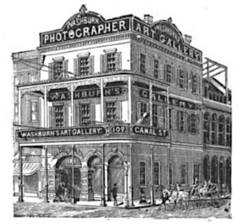 1888 Washburn photographer 109 Canal Street in New Orleans USA.png