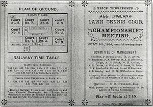 1894 Wimbledon Championships - 1894 Wimbledon program