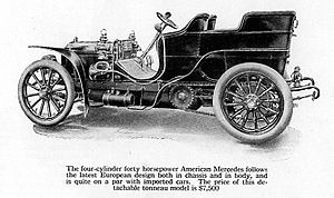 Daimler Manufacturing Company - the car is steered from the right hand side