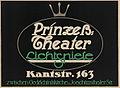 1911 circa anonymer Künstler Plakat Prinzeß-Theater Lichtspiele Kantstraße 163 in Berlin, Druckerei Beyer & Boehme.jpg