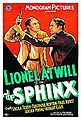 1933 The Sphinx poster.jpg