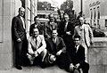 1936. Portland conference. Left-to-right, back row Walter J. Buckhorn, F.C. Craighhead, A.J. Jaenicke, J.M. Miller, F.P. Keen. Front row J.C. Evenden, J.A. Beal, Robert L. Furniss. Portland, Oregon. (34081275113).jpg