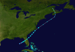 1937 Atlantika tropika ŝtormo 1 track.png