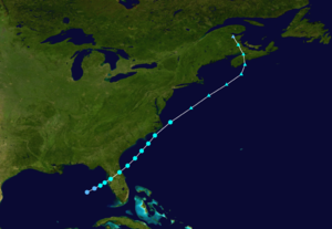 1937 Atlantic hurricane season - Image: 1937 Atlantic tropical storm 1 track