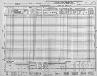 1940 United States Census - Population Schedule