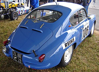 Alpine A106 - Rear view of coach Mille Miles version