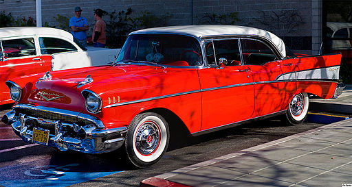 1957 Chevrolet Bel Air Sport Sedan - front left