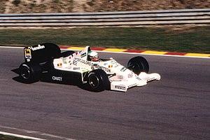 Teo Fabi - Fabi during practice for the 1985 European Grand Prix