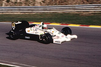 Teo Fabi - Fabi during practice for the 1985 European Grand Prix