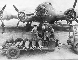 Far East Air Force (United States) - Bombs being loaded into a B-17 of the 19th Bomb Group at Del Monte Field