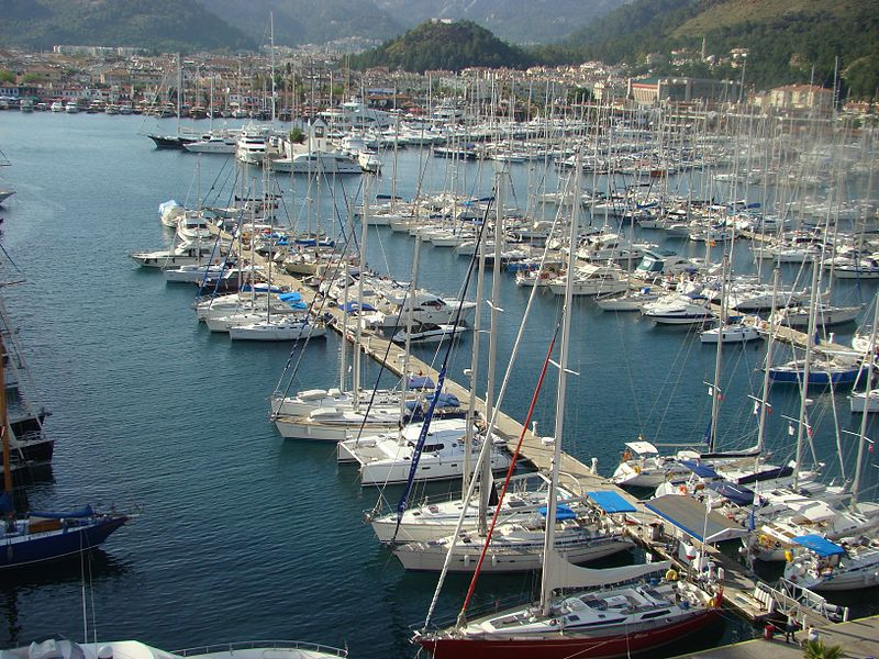 Marmaris Marina in Marmaris Turkey