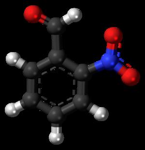 2-Nitrobenzaldehyde - Image: 2 Nitrobenzaldehyde 3D balls