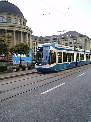 Cobra (tram) - Cobra tram in front of the ETH, Zurich