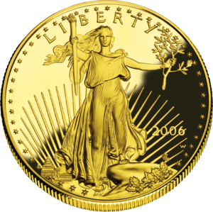 Christmas Kettle - An American Gold Eagle.