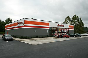 AutoZone - AutoZone store in Hillsborough, North Carolina.