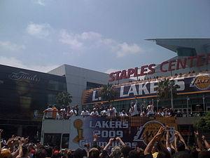 Parade celebrating the 2009 NBA Champions Los ...