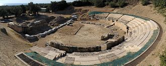 Macedonia (ancient kingdom) - Ruins of the ancient theatre in Maroneia, Rhodope, East Macedonia and Thrace, Greece