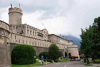 Trentino - Castello del Buonconsiglio (Buonconsiglio Castle) in Trento was the seat of the prince-bishops from the 13th century to 1803
