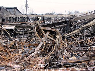 Westclox - Remains of the factory after the fire